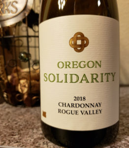2018 Oregon Solidarity Chardonnay