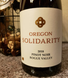2018 Oregon Solidarity Pinot Noir
